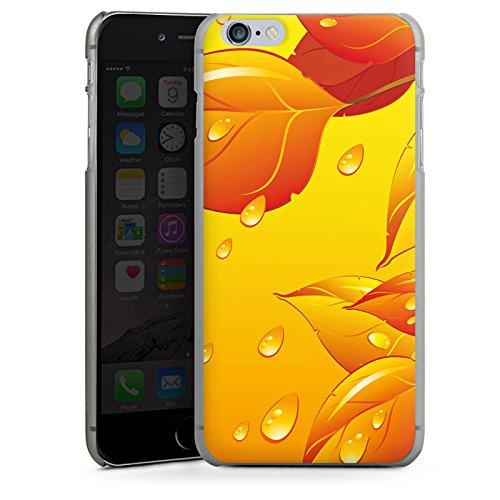 Apple iPhone X Silikon Hülle Case Schutzhülle Blätter Regentropfen Herbst Hard Case anthrazit-klar