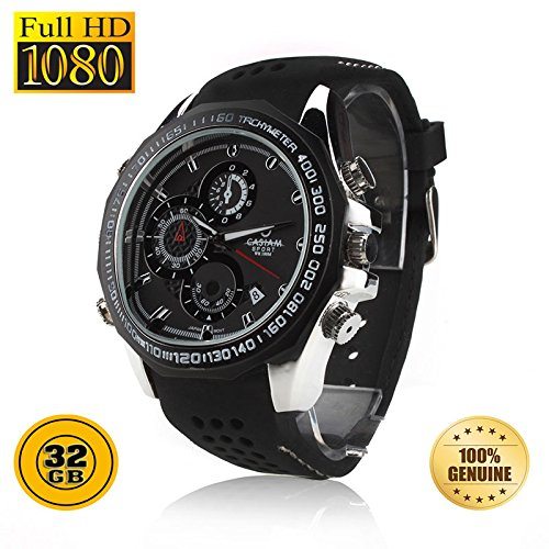 PANSIM 32GB 1080P HD Hidden Video Watch-Camera Spy Night Vision DVR Camera  available at amazon for Rs.9999