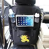 Auto Rückenlehnenschutz– Intipal Rücksitztasche Rücksitz Organizer Rückenlehnentasche mit iPad-Fach Wasserdicht (Löwe)
