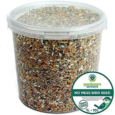 GardenersDream No Mess Seed Mix - All Year Round Wild Bird Food For Garden Birds by GardenersDream