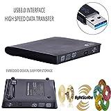 Nuovo USB 3.0 Portable Slim External DVD RW CD RW LIGHTSCRIBE Burner Labelflash Burner scrittore di scheda Reader, unità ottica riscrivibile per tutti i netbook / PC / Laptop / e Mac