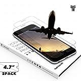 Protector Pantalla Iphone 6s 6 7 (2-Unidades) YOSH® protector cristal vidrio templado (4,7 pulgadas) Alta Definicion(HD) 9H Dureza ✪ Garantía de por vida ✪