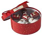 Juego de regalo de velas votivas Yankee oficial de edición limitada, en caja de sombrero roja de Navidad