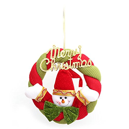 ecoration Santa Claus Snowman Hanging Wreath Cloth Door Hanging Xmas Door Ornaments (Santa Claus Tür)
