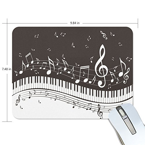 Custom Home Office Schreibtische (zzkko Musik Noten Piano Keyboard rutschfest 25cm (L) x7.48(W) x0.2(H) Gummi-Mauspad für Home Office Laptop Desktop Tastatur)