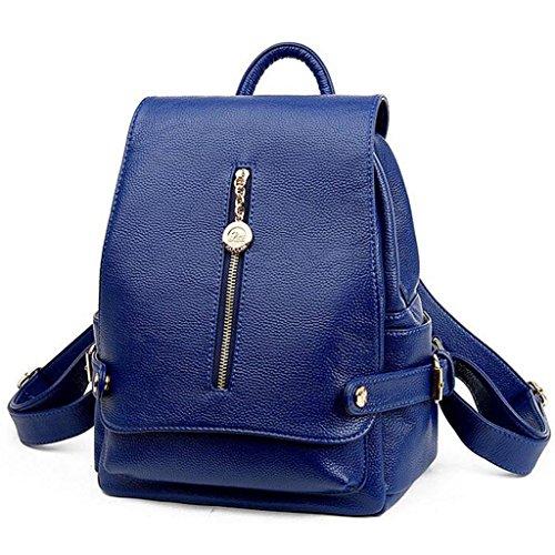Y&F Rucksack Schulranzen Reisetasche Schultertaschen 28 * 15 * 32 cm Blue