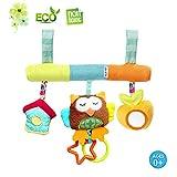 Kleinkindspielzeug Beschwichtigen Schlaf Spielzeug/Kinderwagen/ Bett/der Spielzeugauto-Drehmaschine hängenden Baby Rasseln, Morbuy ab 0 Monate Maße: 25*26cm lang (Eule)