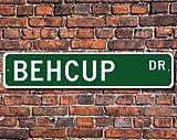 Behcup, Behcup Gift, Behcup Sign, Poner Las Bolas a través de la portería, Similar al Golf, Behcup Player, Custom Street Sign, Calidad Metal Sign