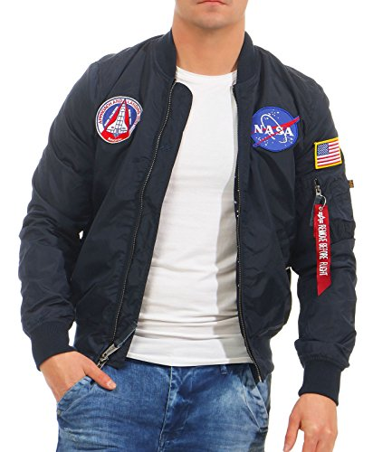 Alpha Industries Herren Jacken / Bomberjacke MA-1 TT NASA Reversible II blau 2XL