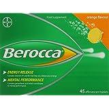 Berocca Effervescent Tablets - Orange Flavour - 45 Tablets
