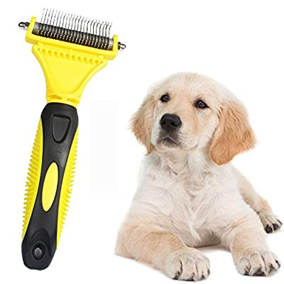 XiaoRui Pet comb, double side cutting head more effective to deal with hair knot problem. by XiaoRui