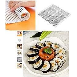 Stuoia Sushi - plastica - Alimentare - arrotolare Il Riso - tovaglietta Giapponese - Mold Maker - cm 24 x 21 - Visto in TV - Idea Regalo Natale e Compleanno