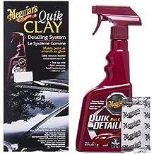 Meguiars Quik Clay Detailing System - Arcilla de limpieza para coche (473 ml y 50 g)