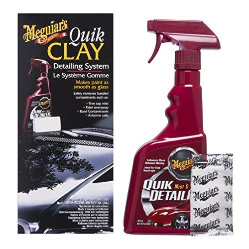 Meguiar's G1116EU Quik Clay Detailing System - Starter Kit Lackreinigungsset, 473ml + 80g
