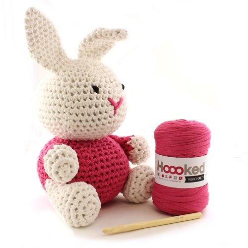 Hoooked Maxigurumi Ribbon XL DIY-Häkelset Bunny Rabbit (pink)