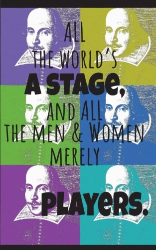 Pop Art Shakespeare Dot Grid Notebook: All The World's A Stage, 150 pages 5
