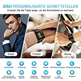 Mpow Smartwatch Wasserdicht IP68 Smart Watch Uhr mit Pulsmesser Fitness Watch Bluetooth Smartwatch Fitness Tracker Intelligente Armbanduhr mit Schrittzähler Schlaf-Monitor Call SMS für Android iOS - 5