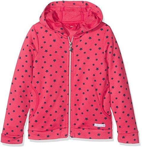 s.Oliver Mädchen Sweatshirt 53.708.43.4826, Rosa (Red Aop 45A9), 128 (Herstellergröße: 128/134)