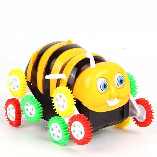 szwanju Biene Autos Bee Stunt Autos Überspringen Automatisch Eimer Cartoon Modell Begegnung Hindernis Flip mit 12 Rädern