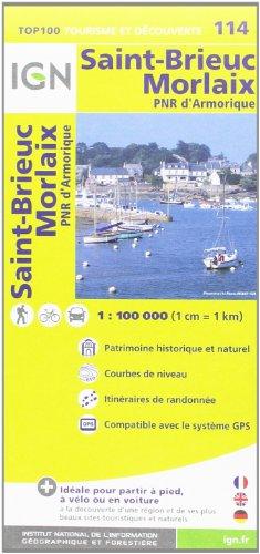 TOP100114 ST-BRIEUC/MORLAIX  1/100.000