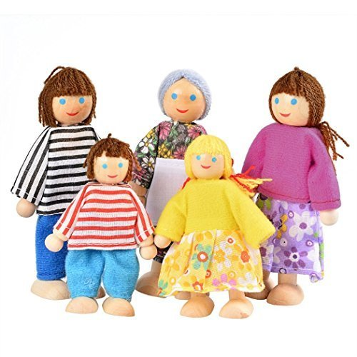 Yoliki Puppenfamilie Puppenhaus Familie 5 Puppen Kinder Rolle Spielzeug