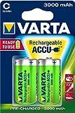 Varta Rechargeable Accu Ready2Use C Baby Ni-Mh Akku (2-er Pack, 3000 mAh)