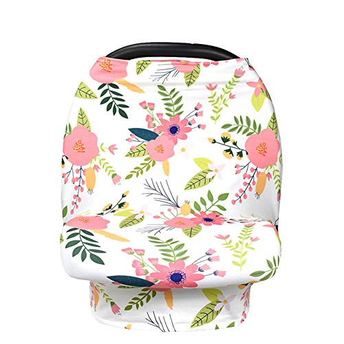 Trifycore Buggy multi-usages couverture allaitement Soins fumée carport siège soins écharpe chapeau du sein pour les mères qui allaitent fleur infantile-1pc à motifs, les infirmières et les infirmiers