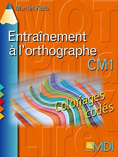 Coloriages codés en orthographe CM1