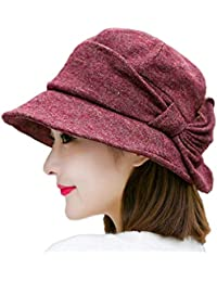 WLM Hat Chinese style ladies hat fashion elegant top hat Home & Kitchen