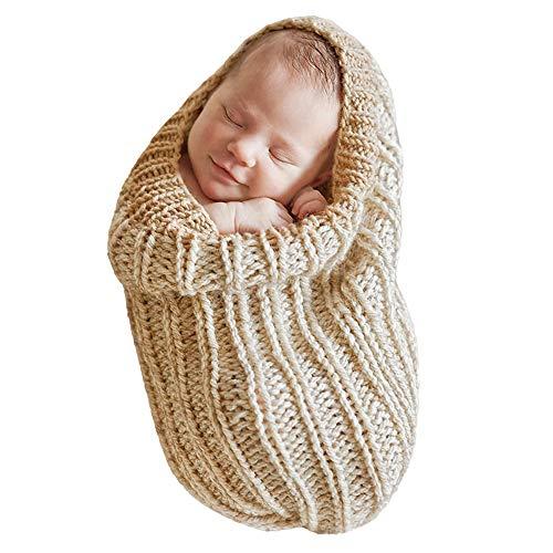Schnee Baby Kostüm - H.eternal Schlafsäcke für Neugeborenen Baby-Mädchen Gestrickt Wickeln wrap Foto Kostüm Fotografie Prop Handarbeit (Grau)