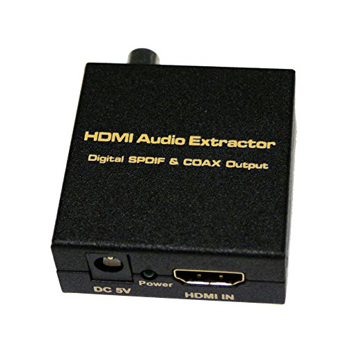 HDMI V1.4 Digitaler Audio Extractor, HDMI Eingang, SPDIF + Coax Ausgang, Unterstützung TDS/DUBOY-AC3z Ir-modulator