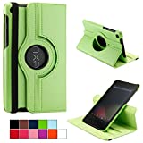 COOVY® Cover for Google ASUS Google Nexus 7 (2. Generation Model 2013) ROTATING 360° DEGREE SMART CASE STAND HOUSING PROTECTION | colour green