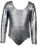 AGOGO 2018 Baby Kinder Mädchen Ballett Tänzerin Halbarm Dancewear Spitze Blume Gymnastik Trikot Stretch Tanzen Training Kostüm (Muster 7, S)