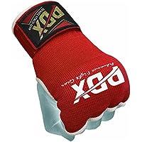 PDX guantes de boxeo de gel mano envuelve saco de boxeo Inner guantes artes marciales MMA Gear, color rojo / blanco, tamaño X-Large