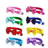 GOOTRADES 8 Stück Welpen/Kätzchen Halsbänder Bequem Hundehalsband Sicher Kragen für Hunde Katzen mit in Glocke