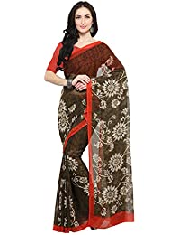 Vaamsi Synthetic Saree With Blouse Piece (Empress1123_Black_One Size)