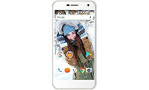 Wileyfox Spark + - 5-Zoll-HD Display (Dual-SIM-Funktionalität 4G) SIM freies Smartphone, 13MP Kamera, 2GB RAM, Android 7.0 (demnächst). - Weiss