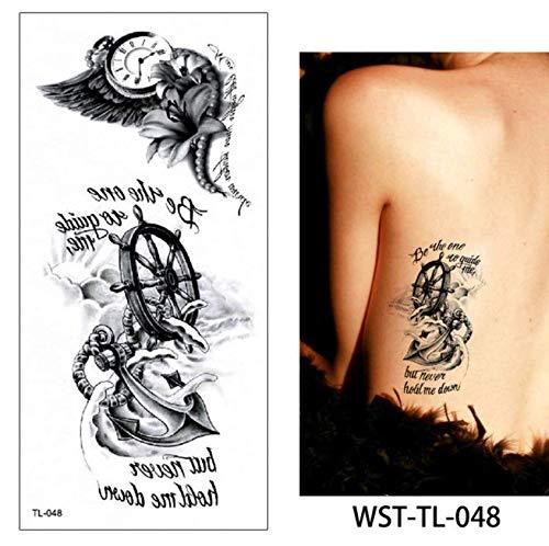 Schmuck Kostüm Coole Katze - yyyDL Kunst temporäre Tätowierung Aufkleber 49D Frauen Schmuck Tattoo Temporäre Körper Brust Taille Kunst Tattoo Aufkleber Cool Choker Anhänger 19 * 9 cm 4 stücke