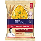 Saffola Fittify Gourmet Superfood Millet Poha, Power Breakfast, 8 X 60 g