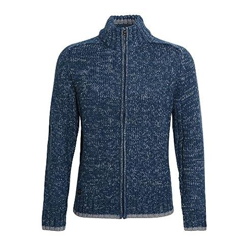 Affordable Fashion Herren Sweatshirt mit Reißverschluss / Strickjacke (L) (Blau / Grau )
