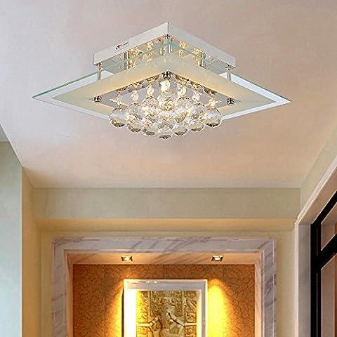 Lámpara cristal simple y elegante Lámpara de techo cristal de 5 piezas para sala de estar Lámpara de techo cristal moderna para
