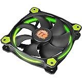 Thermaltake - Riing 14 - Ventilateur PC (12V - 28.1 dB - diam: 14cm - 1400 RPM) Vert
