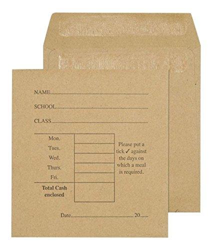 (Purely Everyday 108× 102mm 80gsm Printed Pocket, selbstklebend, Manila Papier (Box von 1000))