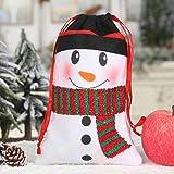 Ornamenti Natalizi, Chshe TM, Sacchetto Di Caramelle Regalo Di Natale Con Cordoncino Non Tessuto Caramelle per Dolcetti Borsa per Feste(B)