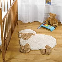 SNUGGLY SUPER SOFT WASHABLE NON-SLIP MICROFIBRE KIDS RUGS DESIGNED IN BRITAIN (Little Lamb) by Nursery 101