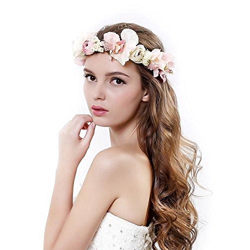 Ever Fairy Damen Stirnband Einheitsgröße Gr. Einheitsgröße, rose (Blumen-stirnband Crown)