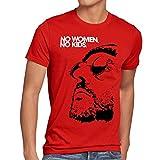 style3 No Women, No Kids Herren T-Shirt leon der profi portman nathalie reno jean, Größe:XL, Farbe:Rot