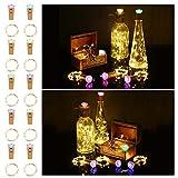 10 Stück LED Flaschenlicht Korken, ACCEWIT 1.5 Meter 16 LEDs Flaschenlicht Lichterketten mit Bunter RGB-Lichtsabdeckung Weinflasche Dekoratives Sternenlicht für Flasche DIY Weihnachten Hochzeit Party
