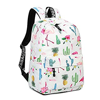 XHHWZB Backpack for Teenage Girls, Floral College Student School School Canvas Bag Knapsack