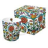 Home Collection Hogar Cocina Decoración Accesorios Cubertería Vajilla Tazas Grande de Café con Caja de Regalo Motivo Flores Animales